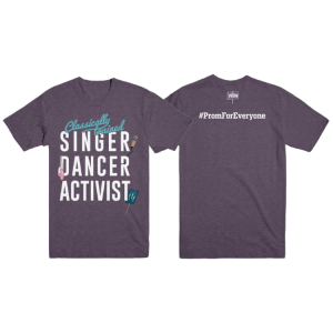 Purple Slogan Unisex Tee